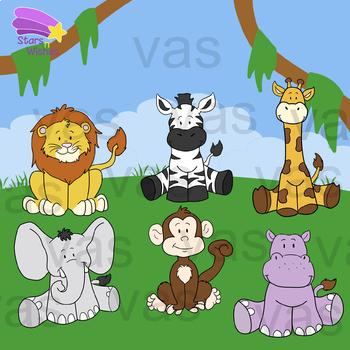Jungle Animals Clip Art By Stars N Wishes Teachers Pay Teachers