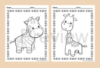 Jungle Animals Coloring Pages - 8 Designs