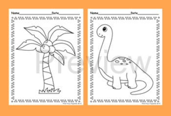 Dinosaur Coloring Pages - 8 Designs