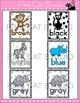 Jungle Theme Colors Posters Editable - Wild Animals Classroom Decor