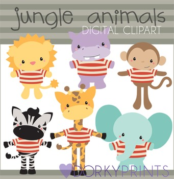 Jungle Animals Digital Clip Art