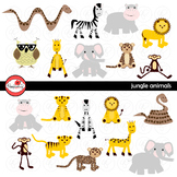 Jungle Animals Digital Clipart by Poppydreamz