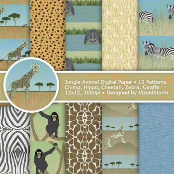picture regarding Printable Safari Animals named Jungle Pets Electronic Paper, Printable Safari Animal Behavior