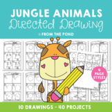 Jungle Animals Directed Drawings {Fun Art + Writing Projects}