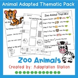Zoo Animals Adapted Thematic Pack