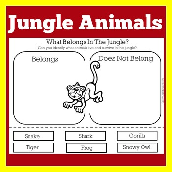 Jungle Worksheet Jungle Activity Jungle Printable By Green Apple