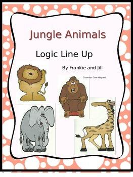 Jungle Animals Logic Line Up NO PREP common core aligned