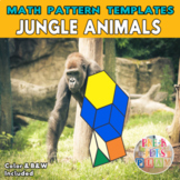 Jungle Animals   Math blocks pattern printables