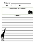 Jungle Animals Meeting Notes Template