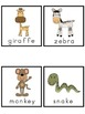 Jungle Animals Picture Word Bank and Picture Cards