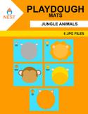 Jungle Animals Playdough Mats