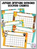 Jungle Animals Reward Sticker Charts