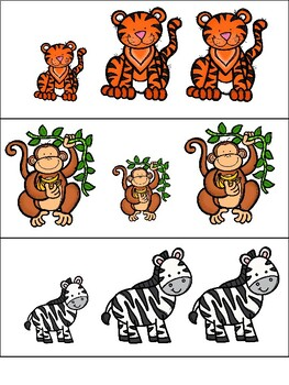Jungle Animals Same vs. Different Activities
