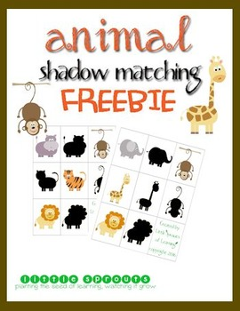 Jungle Animals Shadow Cards