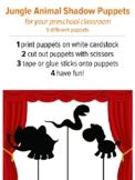 Shadow Puppets Jungle Animals, preschool music activity