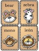 Jungle Animals Spanish Names Play & Learn Pack