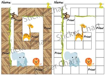 Jungle Animals Sticker/Behavior Chart
