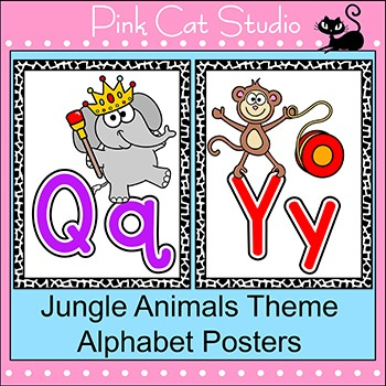 Jungle Theme Alphabet Posters - Editable