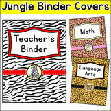 Editable Teacher Binder Covers Jungle Theme