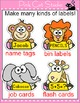 Jungle Animals Name Tags and Labels - Monkey, Giraffe, Ele