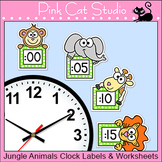 Jungle Animals Clock Labels - Wild Animals Theme