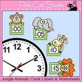Jungle Animals Clock Labels - Wild Animals Theme