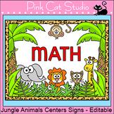 Jungle Theme Center Signs