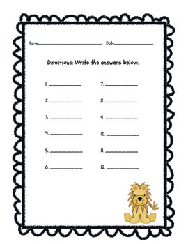 Jungle Babies Addition Task Cards