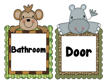 Jungle Babies Center Signs and Labels