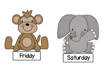 Jungle Babies days of the week
