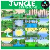 Jungle Backgrounds Clip Art Set {Educlips Clipart}