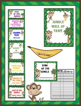 Behavior Chart- Jungle Theme