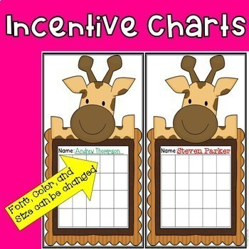 Incentive Charts with a Jungle Theme