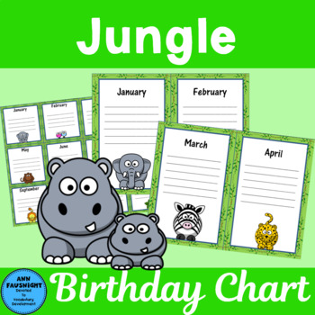 Jungle Birthday Chart