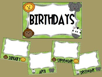 Jungle Birthday Posters