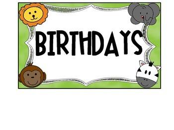 Jungle Birthday Posters