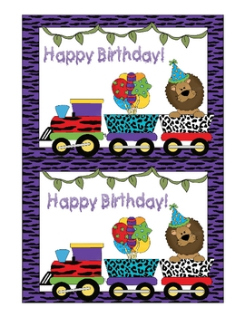 Jungle Birthday Signs