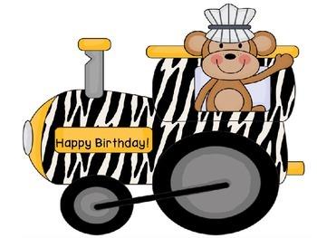 Jungle Birthday Train: Custom Order
