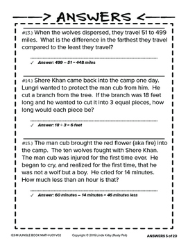 Jungle Book - Math Problem Solving – 3rd Grade