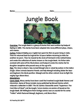 Jungle Book - Rudyard Kipling - History of the book, facts, fun stuff lesson
