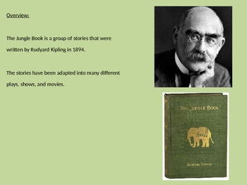 Jungle Book - Rudyard Kipling Power Point history of book and more