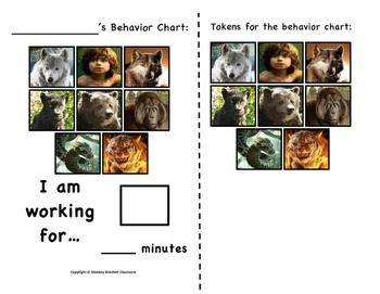 Jungle Book Token Behavior Chart!