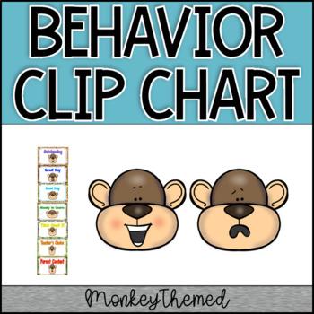 Jungle Border Monkey Clip Chart