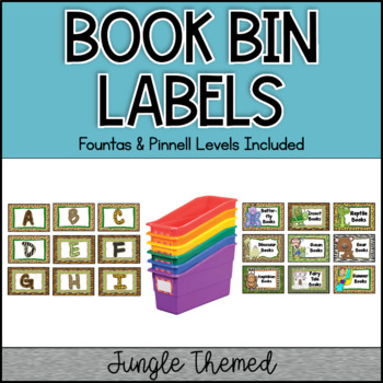 Jungle Border Really Good Stuff Book Bin Labels
