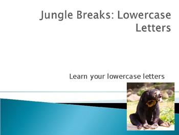 Jungle Breaks: Lowercase Letters ( Brain Breaks)