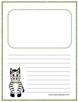 Writing Paper Templates - Animals Theme