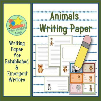 Animals Writing Paper