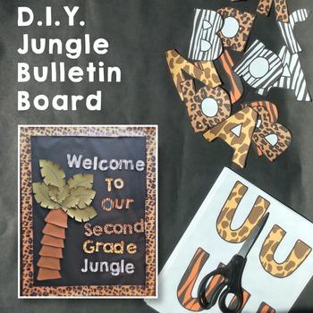 Jungle Bulletin Board Kit By Kiddos And Crayons By Jordan Piacenti