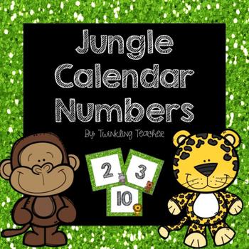 Jungle Calendar Numbers!