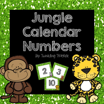 Jungle Calendar Numbers!